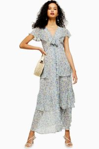 Topshop Floral Tiered Midaxi Dress ~ summer garden party / occasion dresses