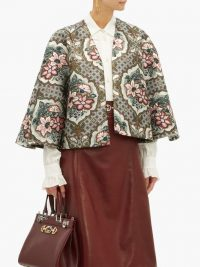 GUCCI Floral-brocade cape ~ designer capes