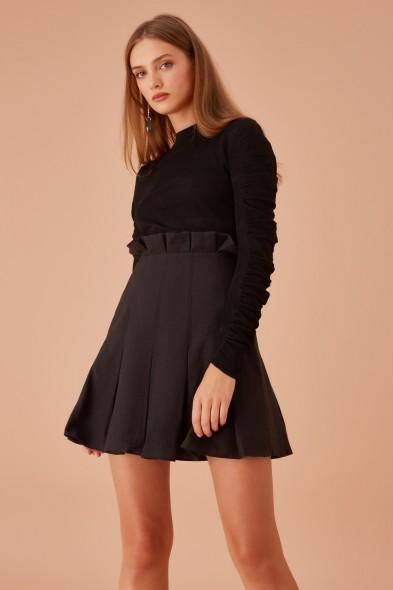 KEEPSAKE FORTUNE SKIRT BLACK – frill trimmed occasion skirts