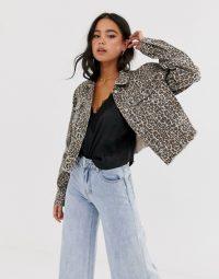 Free People cheetah printed denim jacket ~ wild animal prints