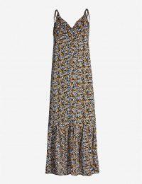 GESTUZ Georgina floral-print crepe dress | shoulder tie slip dresses