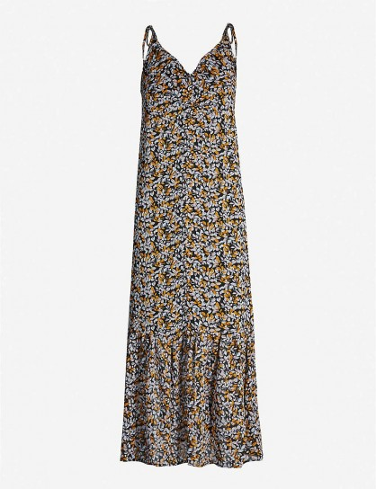 GESTUZ Georgina floral-print crepe dress | shoulder tie slip dresses