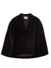 GUCCI GG black velvet cape