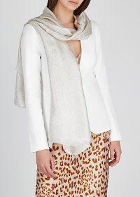 GUCCI GG metallic silk-blend scarf