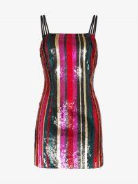 Haney Elektra Sequin Double Strap Dress ~ multicoloured shimmering mini