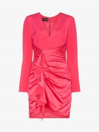 Haney Lilly Ruffled Mini-Dress in Pink - flipped