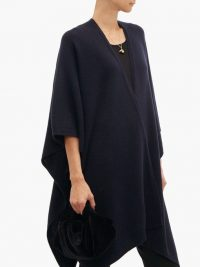 THE ROW Hern cashmere cape in navy ~ luxury blue capes