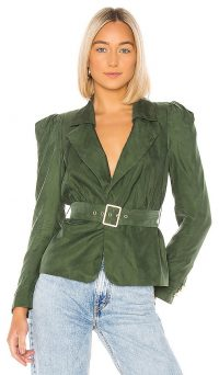 House of Harlow 1960 X REVOLVE Fernanda Jacket in Green ~ vintage style jackets