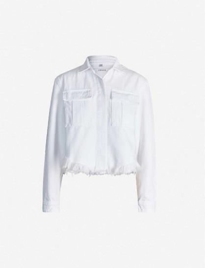 J BRAND Shannan white denim jacket