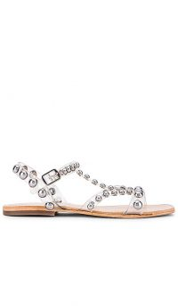 Jeffrey Campbell Amaryl Sandal Clear and Silver | transparent stud embellished sandals