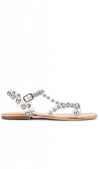 Jeffrey Campbell Amaryl Sandal Clear and Silver   transparent stud embellished sandals