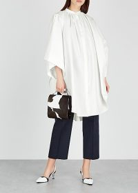 JIL SANDER Lawlee white cape-effect cotton shirt