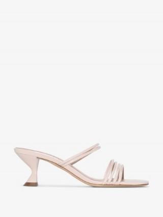 Kalda Mini Simon 35mm Strappy Sandals ~ pale-pink angled kitten heels