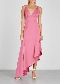 KEEPSAKE Restore pink satin dress | glamorous summer party fashion