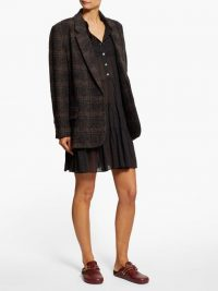 ISABEL MARANT ÉTOILE Korix single-breasted grey checked blazer ~ oversized jackets