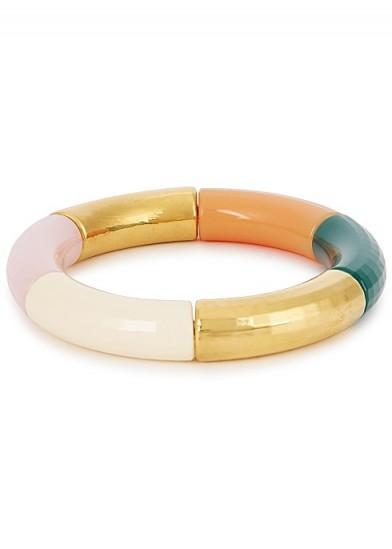 KYOTO TANGO Queens Speech beaded resin bracelet | multicoloured bangle