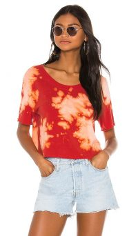 LA Made Rogue Crop Top Flame Scarlet Tie Dye
