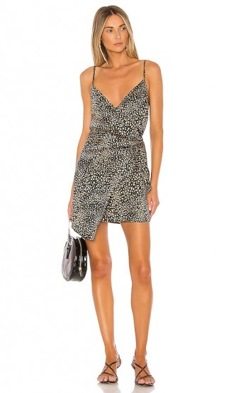 L'Academie Arianna Dress in Black | skinny strap dresses with wrap style front