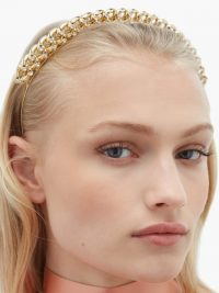 ROSANTICA BY MICHELA PANERO Liberta crystal-embellished chain headband | gold-tone headbands