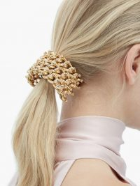 ROSANTICA BY MICHELA PANERO Liberta crystal-stud hair tie | gold-tone ponytail accessory