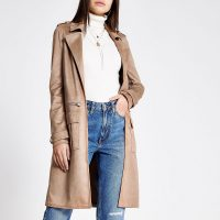 River Island Light brown faux suede utility jacket
