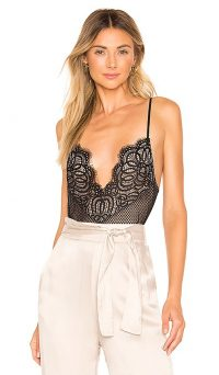 Lovers + Friends Lace Bodysuit in Black