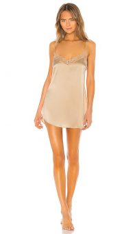 Lovers + Friends Valetina Slip in Nude – lace trim slips