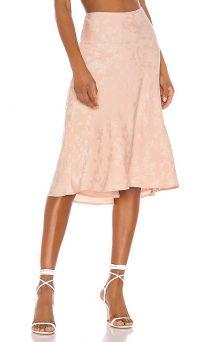 LPA Lucy Skirt Blush Nude – pink jacquard skirts