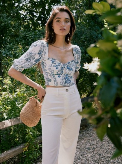 REFORMATION Luna Top Olympia / floral crop tops - flipped