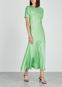 MAGGIE MARILYN It's Up To You green silk dress ~ vintage style clothing ~ fluid fabrics