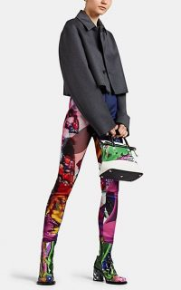 MAISON MARGIELA Abstract-Print Tech-Fabric Skinny Jeans ~ multicoloured skinnies