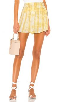 MAJORELLE Hunter Shorts Yellow Tie Dye