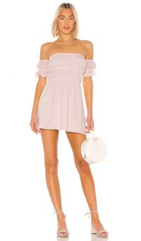 MAJORELLE Lillia Mini Dress Baby Pink – sweet bardot
