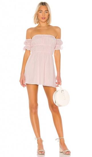 MAJORELLE Lillia Mini Dress Baby Pink – sweet bardot