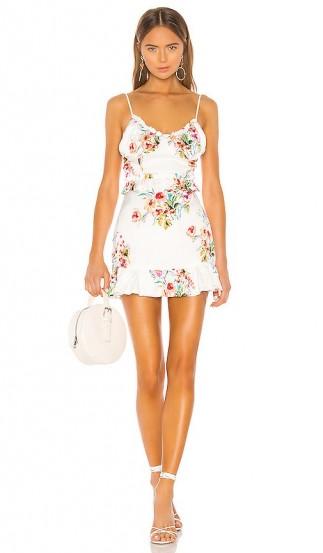 MAJORELLE Nova Mini Dress Watercolor Multi – floral summer party dresses