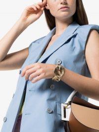 Marni Gold Tone Link Cuff ~ chunky designer cuffs