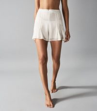 REISS MARTINA EMBROIDERED RESORTWEAR SHORTS OFF WHITE ~ floaty vacation clothing