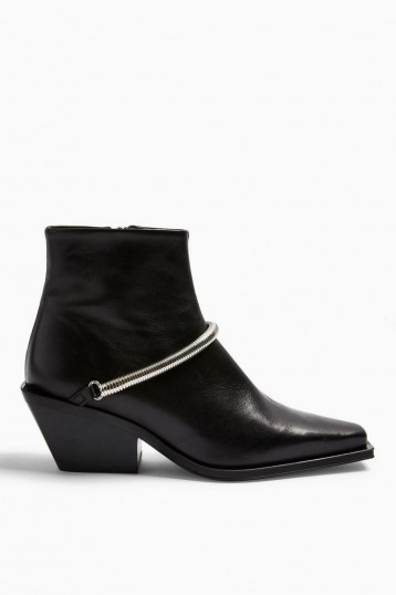 TOPSHOP MERCY Western Boots in Black