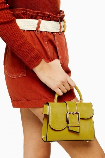 TOPSHOP MINNY Buckle Mini Bag CHARTREUSE / small green top handle bags