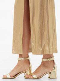 NICHOLAS KIRKWOOD Miri pearl-heel ankle strap sandals in gold