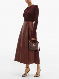 MARK CROSS Murphy mini burgundy-leather bucket bag ~ small chic handbags