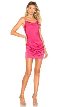 NBD Abra Mini Dress in Fuchsia