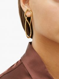 CHARLOTTE CHESNAIS Needle 18kt gold-vermeil earrings
