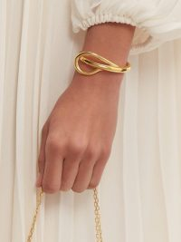CHARLOTTE CHESNAIS Needle twisted 18kt-gold bracelet ~ contemporary sculptural jewellery