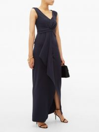 MAX MARA STUDIO Nice dress in navy ~ elegant formal wear