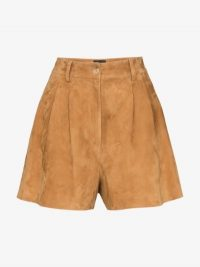 Nili Lotan Roxana Brown Suede Shorts