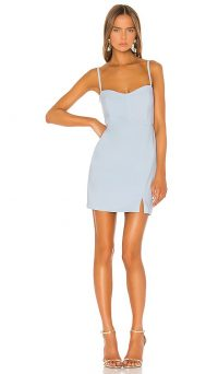Nookie Muse Mini Dress Powder Blue | summer evening going out dresses