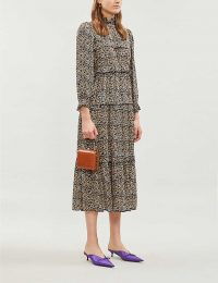 OLIVIA RUBIN Ines leopard-print crepe midi dress