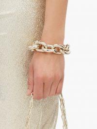 PACO RABANNE Oversized chain-link bracelet ~ chunky gold-tone bracelets