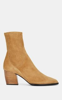 PIERRE HARDY Rodeo Suede Ankle Boots in Beige